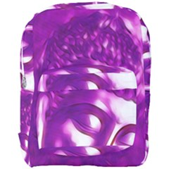 Purple Buddha Art Portrait Full Print Backpack by yoursparklingshop
