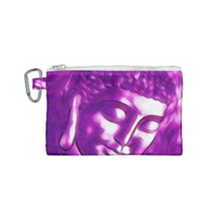 Purple Buddha Art Portrait Canvas Cosmetic Bag (small) by yoursparklingshop