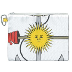 Symbol Of Argentine Navy  Canvas Cosmetic Bag (xxl)