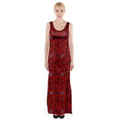 Crows Maxi Thigh Split Dress by greenthanet
