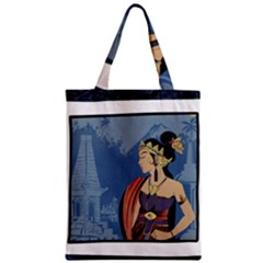 Java Indonesia Girl Headpiece Zipper Classic Tote Bag by Nexatart