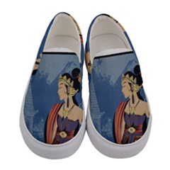 Java Indonesia Girl Headpiece Women s Canvas Slip Ons