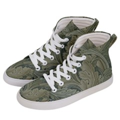 Vintage Background Green Leaves Women s Hi-top Skate Sneakers by Nexatart
