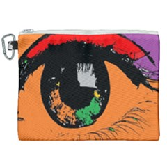 Eyes Makeup Human Drawing Color Canvas Cosmetic Bag (xxl) by Nexatart