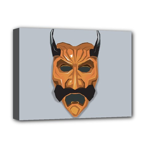 Mask India South Culture Deluxe Canvas 16  X 12   by Nexatart