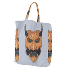 Mask India South Culture Giant Grocery Zipper Tote