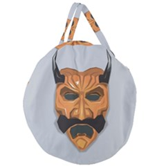 Mask India South Culture Giant Round Zipper Tote