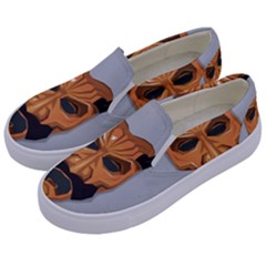 Mask India South Culture Kids  Canvas Slip Ons by Nexatart