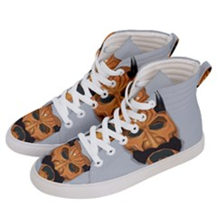 Mask India South Culture Women s Hi Top Skate Sneakers by Nexatart