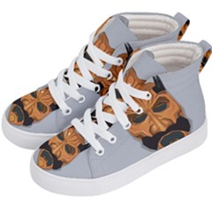 Mask India South Culture Kid s Hi Top Skate Sneakers by Nexatart