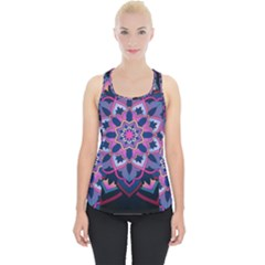 Mandala Circular Pattern Piece Up Tank Top