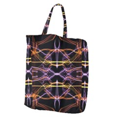 Wallpaper Abstract Art Light Giant Grocery Zipper Tote