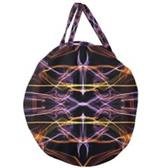 Wallpaper Abstract Art Light Giant Round Zipper Tote
