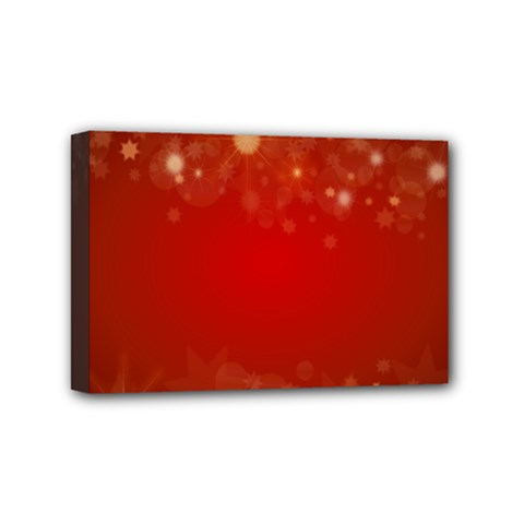 Background Abstract Christmas Mini Canvas 6  X 4
