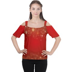 Background Abstract Christmas Cutout Shoulder Tee