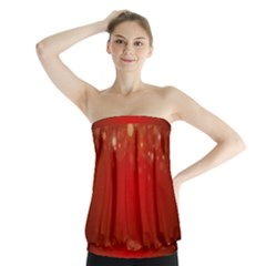 Background Abstract Christmas Strapless Top