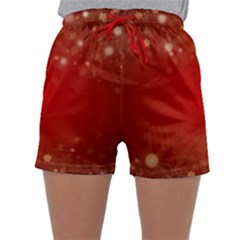Background Abstract Christmas Sleepwear Shorts