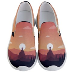 Design Art Hill Hut Landscape Men s Lightweight Slip Ons