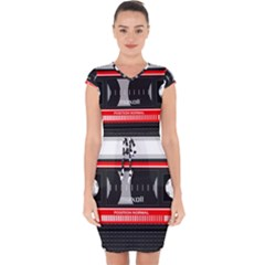 Compact Cassette Musicassette Mc Capsleeve Drawstring Dress
