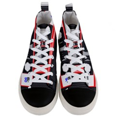 Compact Cassette Musicassette Mc Men s Mid Top Canvas Sneakers