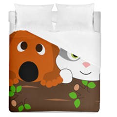 Baby Decoration Cat Dog Stuff Duvet Cover (queen Size)