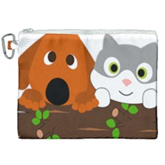 Baby Decoration Cat Dog Stuff Canvas Cosmetic Bag (xxl) by Nexatart