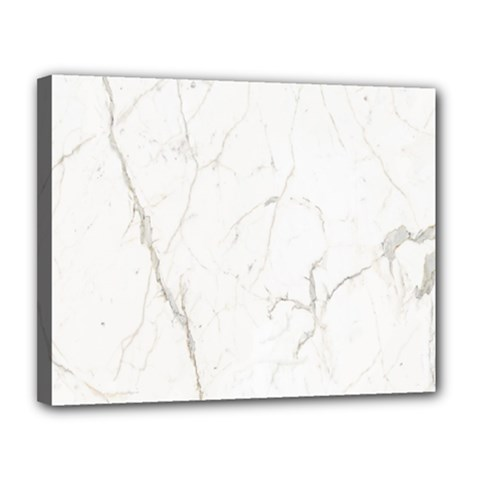 White Marble Tiles Rock Stone Statues Canvas 14  X 11  by Nexatart