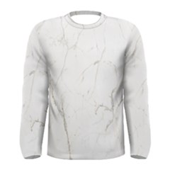 White Marble Tiles Rock Stone Statues Men s Long Sleeve Tee by Nexatart