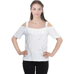 White Marble Tiles Rock Stone Statues Cutout Shoulder Tee