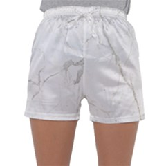 White Marble Tiles Rock Stone Statues Sleepwear Shorts