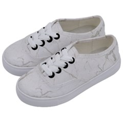 White Marble Tiles Rock Stone Statues Kids  Classic Low Top Sneakers by Nexatart