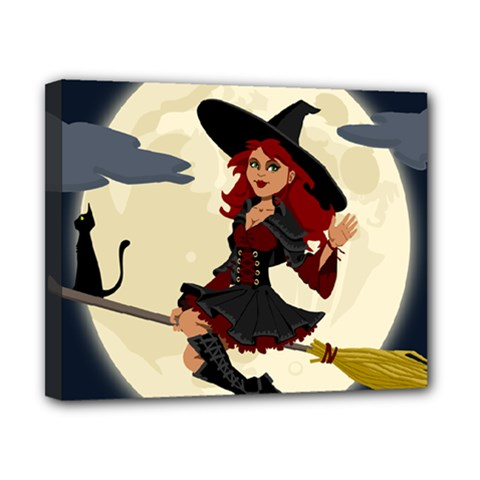 Witch Witchcraft Broomstick Broom Canvas 10  X 8  by Nexatart
