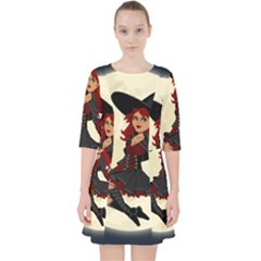 Witch Witchcraft Broomstick Broom Pocket Dress