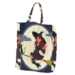 Witch Witchcraft Broomstick Broom Giant Grocery Zipper Tote