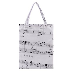 Abuse Background Monochrome My Bits Classic Tote Bag by Nexatart