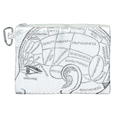 Brain Chart Diagram Face Fringe Canvas Cosmetic Bag (xl) by Nexatart