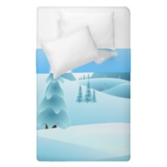Landscape Winter Ice Cold Xmas Duvet Cover Double Side (single Size) by Nexatart