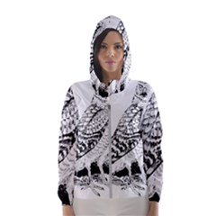 Animal Bird Forest Nature Owl Hooded Wind Breaker (women)