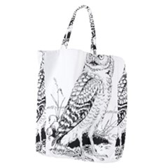 Animal Bird Forest Nature Owl Giant Grocery Zipper Tote