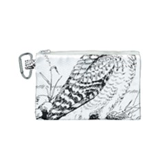 Animal Bird Forest Nature Owl Canvas Cosmetic Bag (small)