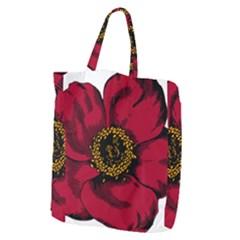 Floral Flower Petal Plant Giant Grocery Zipper Tote
