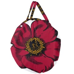Floral Flower Petal Plant Giant Round Zipper Tote