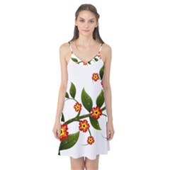 Flower Branch Nature Leaves Plant Camis Nightgown