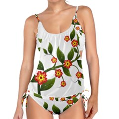 Flower Branch Nature Leaves Plant Tankini Set