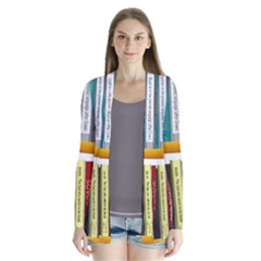 Shelf Books Library Reading Drape Collar Cardigan