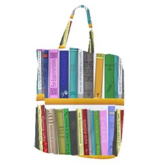 Shelf Books Library Reading Giant Grocery Zipper Tote