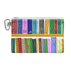Shelf Books Library Reading Canvas Cosmetic Bag (large) by Nexatart