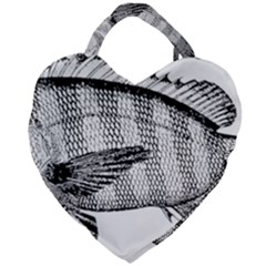 Animal Fish Ocean Sea Giant Heart Shaped Tote