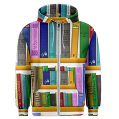 Shelf Books Library Reading Men s Zipper Hoodie