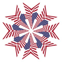 A Star With An American Flag Pattern Straight Umbrellas by Nexatart